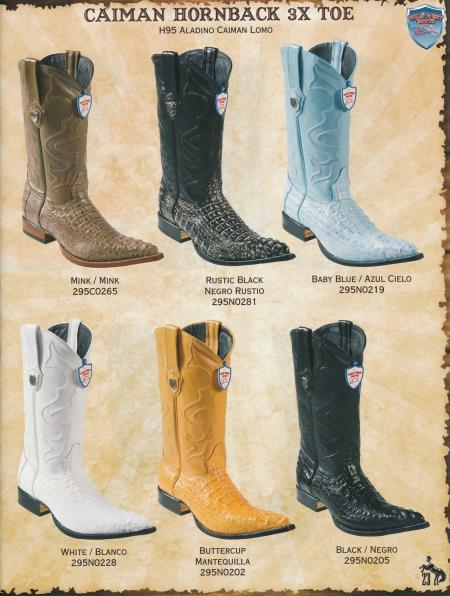 Product#6YH4 XXX-Toe cai ~ Alligator skin Hornback Cowboy Western Boots Diff. Colors/Sizes
