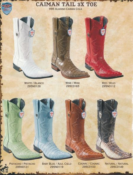 Product# 4G4G 4X-Toe cai ~ Alligator skin Tail Cowboy Western Boots Diff.Colors/Sizes