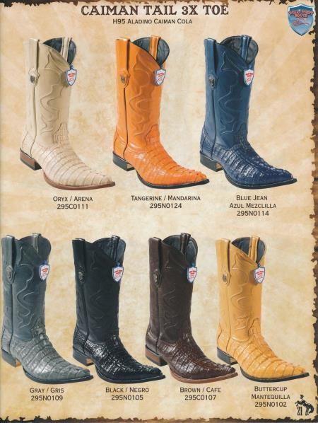 Product# S33S 3X-Toe cai ~ Alligator skin Tail Cowboy Western Boots Diff.Colors/Sizes