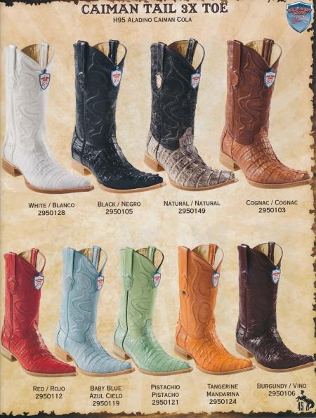 Product#2G4F XXX-Toe Genuine cai ~ Alligator skin Tail Cowboy Western Boots Diff.Color/Size