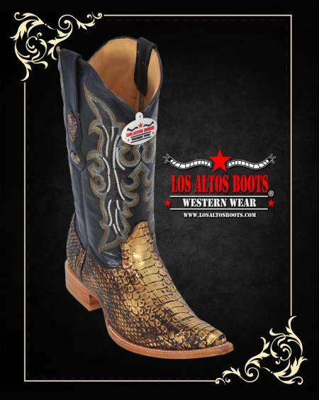 Product#GN78 XXX-Toe Python ~ Snake Western Cowboy Boots by Authentic Los altos
