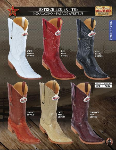16e247bc6c3 Product# K888 Authentic Los altos 3X Toe Genuine Ostrich Leg Western Cowboy  Boots Diff.Colors/Sizes