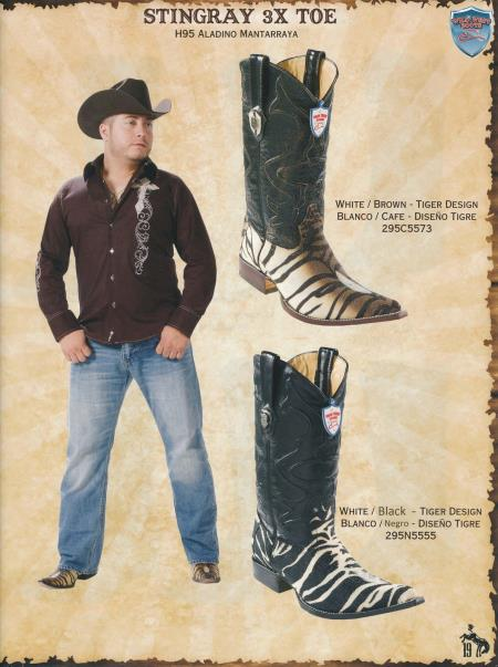 Product# U4FE 3X-Toe Stingray skin Cowboy Western Boots Diff. Colors/Sizes