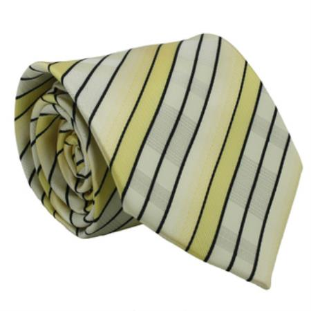 Yellow Striped Neck Tie