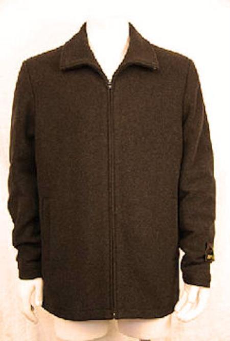 Zipper Collar Jacket Dark
