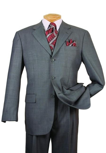 JL2889 Gray Single Breasted 3 Button Style affordable suit Online Sale
