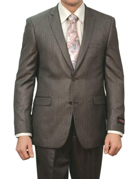 M133S000 Carbon Grey Shiny Stripe ~ Pinstripe 2 Button Style Front Closure Suit