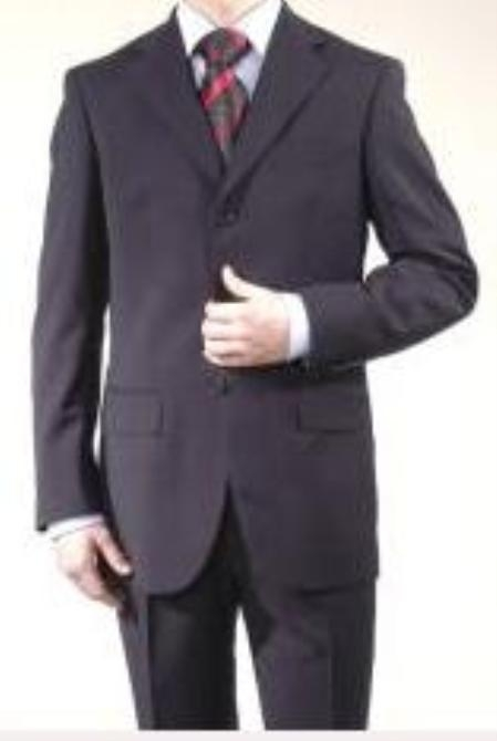 Boys Solid Navy Blue Suit