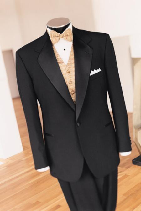 Black 1 Button Tuxedo