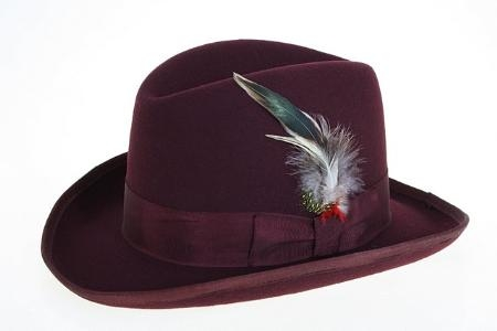 maroon fedora hat e837dbb75565