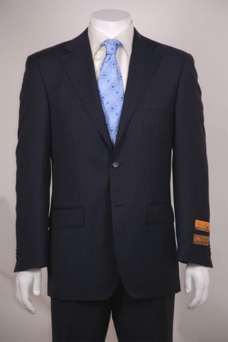 Pinstripe 2 button suit