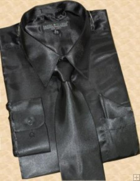 Wear the Best Styles of Black Satin Shirt
