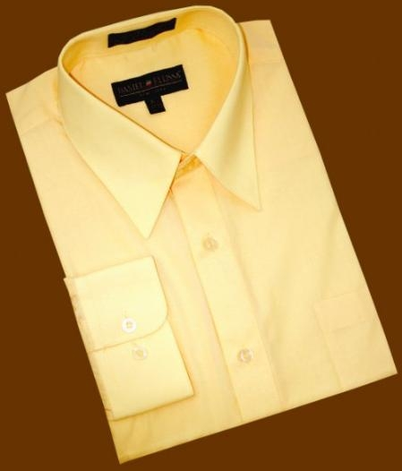 Yellow French Cuff Dress Shirts