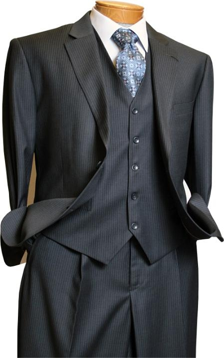 3 Piece Grey Pinstripe suit