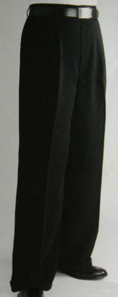 Mens Wide Leg Pants, Pleated Baggy Dress Pants & Trousers If you want access to many excellent choices in mens wide leg dress pants, there's no better destination on the Internet than our shop. MensItaly is an acclaimed Internet retailer that's known for plentiful options in mens wide less dress pants.