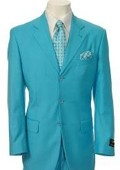 Turquoise and white suit