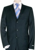 Mens Dark Navy Pinstripe