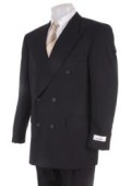 Mens Black Dress Double