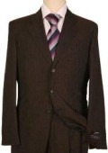 Mens Dark Brown Pinstripe