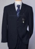 Pick-Stitch Navy Suit- Super