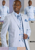 3 Button Seersucker Suit