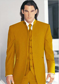 Tuxedo Mandarin Collar Gold