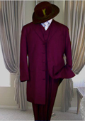 Suit with maroon shirt