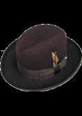 Mens Dark Brown Hat