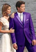 Purple tuxedo with tails