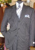 Button Sharp Pinstripe Super