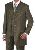 Green pinstripe suit