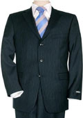 Mens Comservative Navy Pinstripe