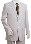 Fashion Seersucker Suit in