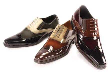 SKU#EE1111 Oxford Stylish Mens Shoes in Black Combination $99