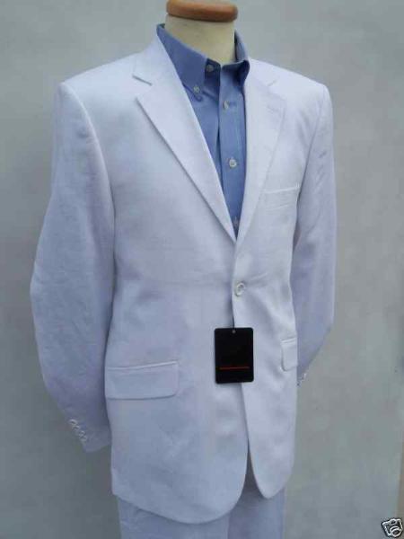 White Linen Designer Suit
