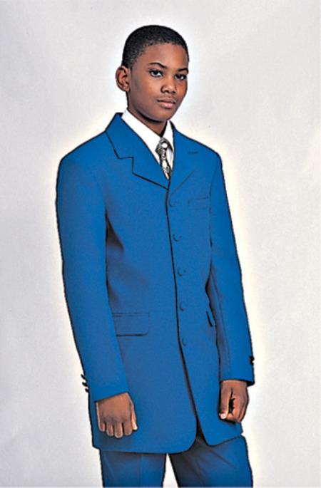 Blue boys suits