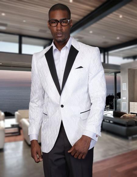 White blazer with black lapel, blazer jackets for men