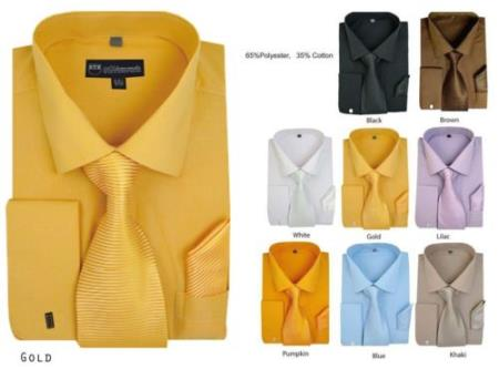 yellow french cuff dress shirt