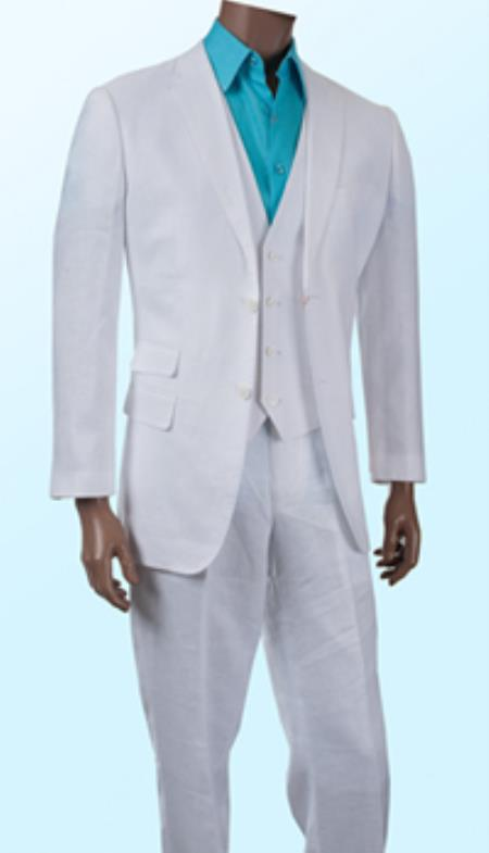 Mens white linen suits, Linen suits beach wedding, Linen pants