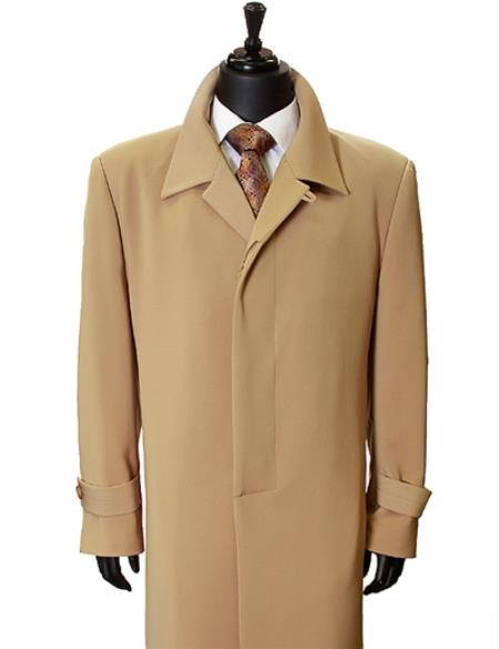 Long Overcoat Black Overcoat Mens Wool Topcoat