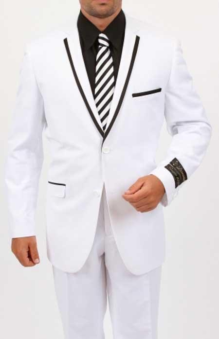 7ef1ac1147ea Downtown Pearl White and Black Tuxedo Jacket  395. White and black tuxedo