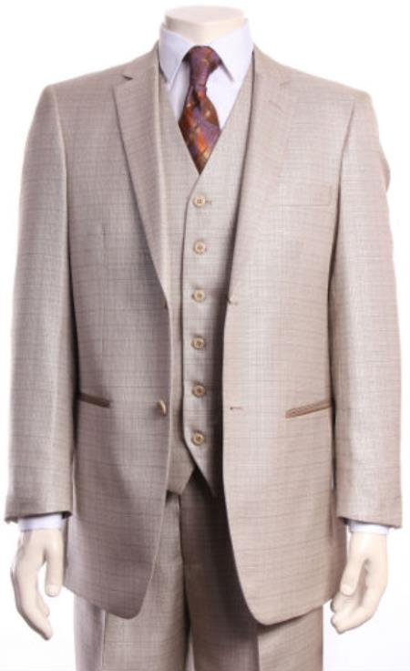 Regular Fit Suit Tan