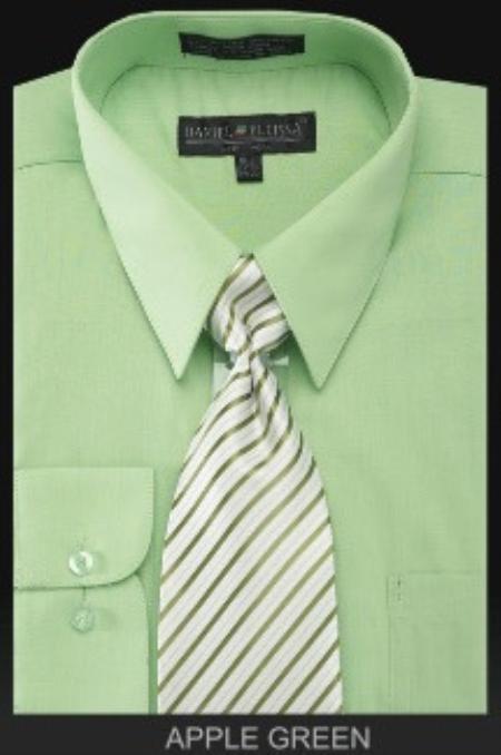Mint Green Dress Shirt For Men
