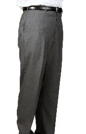 Charcoal Parker Pleated Slacks