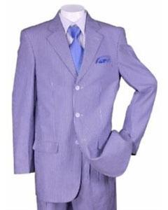 Summer Seersucker Fabric Suit