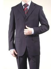 Navy Superior Fabric Wool