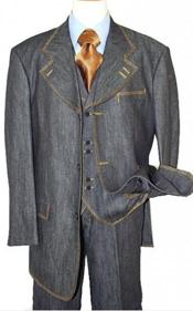 Fashion Denim Suit 3