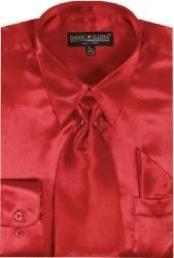 Red Shiny Silky Satin