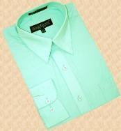 Green Cotton Blend Dress