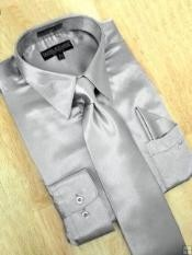 Silver Grey Dress Shirt